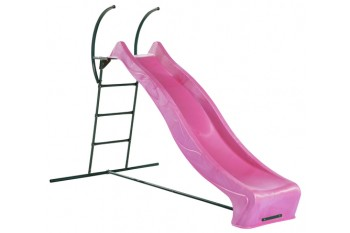 1.2m high slide 'reX' and ladder free standing kit with water feature - PINK