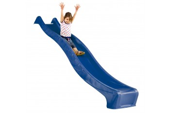 """1.5m high standalone slide """"S-line"""" with water feature - BLUE"""