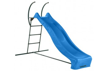 "1.5m high slide ""Tsuri"" and ladder free standing kit with water feature - BLUE"
