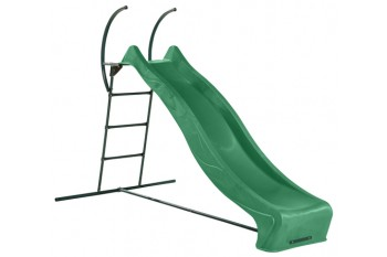 "1.5m high slide ""Tsuri"" and ladder free standing kit with water feature - GREEN"