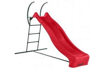 "1.5m high slide ""Tsuri"" and ladder free standing kit with water feature - RED"