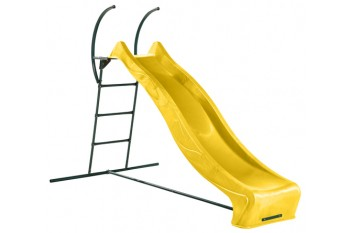 """1.5m high slide """"Tsuri"""" and ladder free standing kit with water feature - YELLOW"""