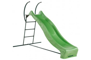 "1.5m high slide ""Tsuri"" and ladder free standing kit with water feature - LIME"