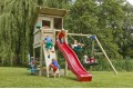 1.2m high slide 'reX' with water feature attachment - PINK