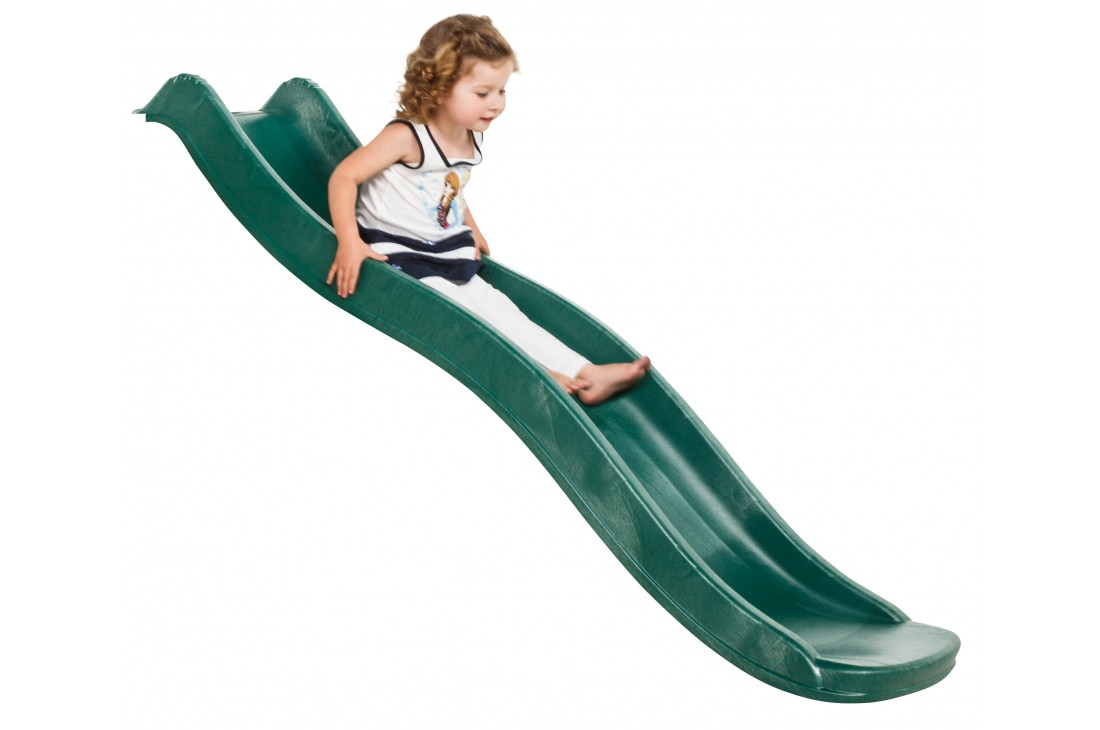 """standalone slide """"Tweeb"""" with water feature - GREEN, 0.9m high"""