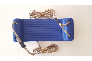 Hollow Moulded Swing Seat BLUE PP Rope