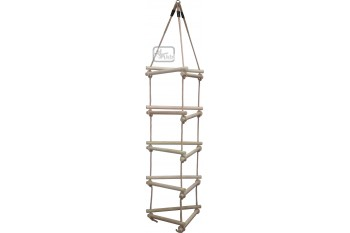 3 Sided Wooden Rung Rope Ladder Triangle