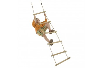 Wooden 6 Rung Rope Ladder