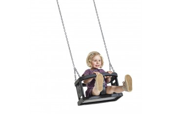 Rubber baby Swing seat  'curve'  With Chains KBT Swing Seat (Commercial- Aluminium Insert)