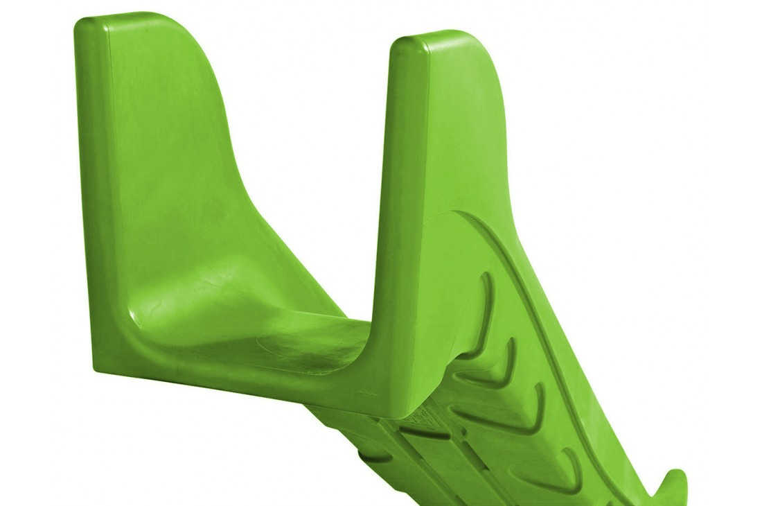 0.6m high standalone Commercial slide 'Bronco' - Lime
