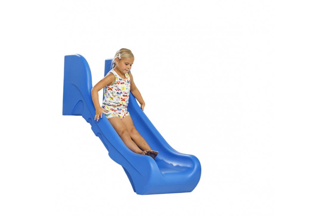 0.6m high standalone Commercial slide 'Bronco' - Blue