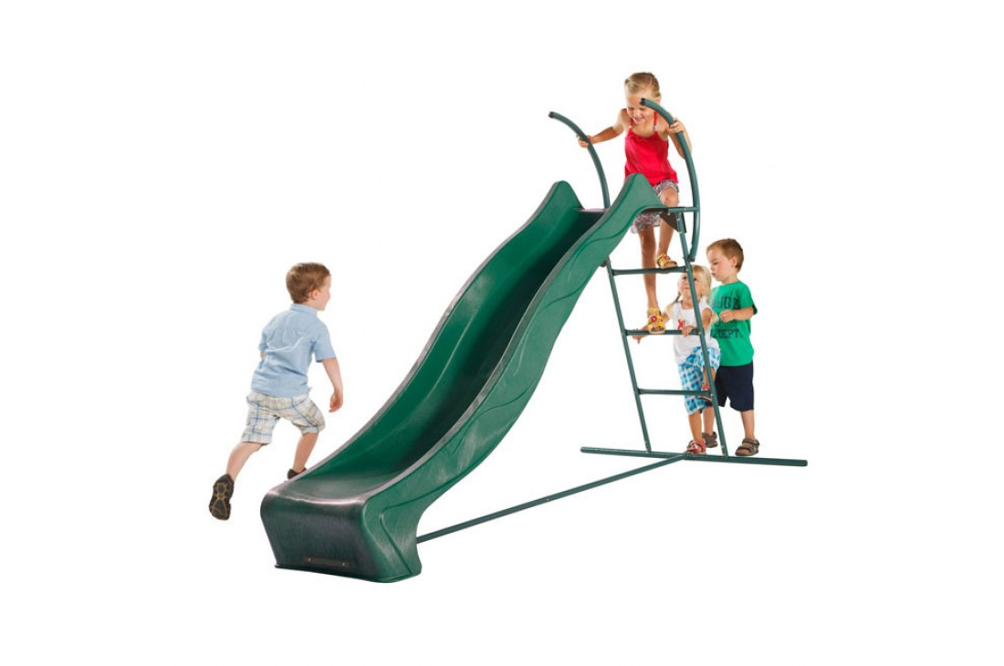 2.28m Slide GREEN with 1.2m High Free Standing Ladder Kit
