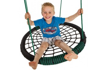 Nest Swing Oval BLACK/GREEN With Adjustable PP Ropes (sensory swing)