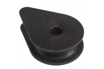 Plastic Thimble - diam. 35 x 16 - closed - black 1pc