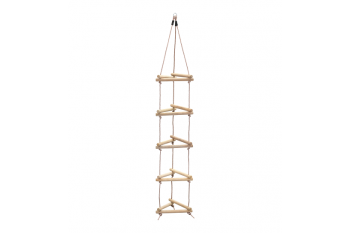 3 Sided Wooden Rung Rope Ladder Triangle PP Rope