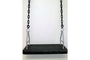 Senior Safety Swing Seat Commercial With Green Heavy Duty Plastic Coated Chains