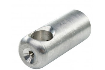 Aluminium T-connection for armed rope - 67 x 28 mm 1pc