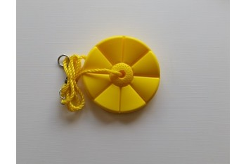 Daisy Disc Swing Seat YELLOW With Yellow Rope