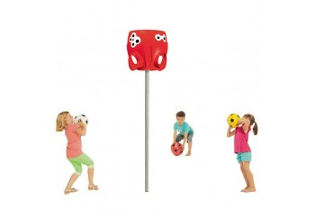 Ball Catcher and Pole Commercial Octopus RED with pole