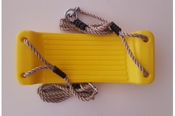 Hollow molded Swing Seat YELLOW With Adjustable PP