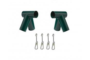 DIY Round Oblique Double Swing Set Green