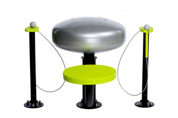 Handpan Duet with Mallets - Musical Instrument Inclusive Commercial Play Equipment