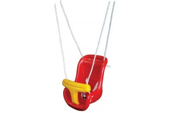 Zac Moulded Infant Seat With Ropes RED/YELLOW