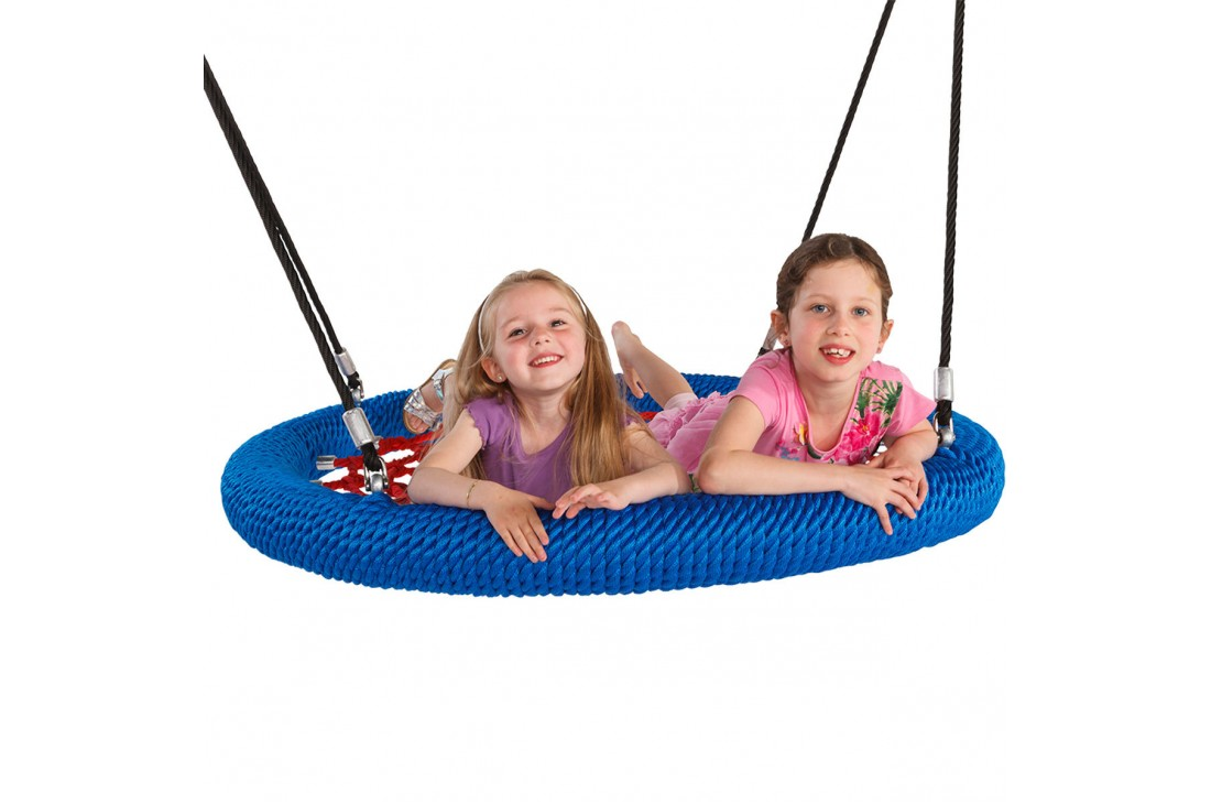 Nest Swing Birdie Commercial 1.2m RED/BLUE 2 Point Fixing