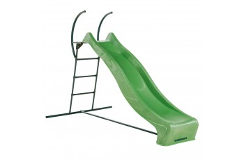 2.28m Slide LIME GREEN with 1.2m High Free Standing Ladder Kit