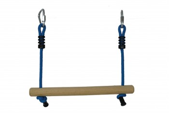 Ninja Wooden Bar with Rope BLUE