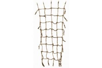 Scramble Net 2.25m x 1.5m Brown Rope