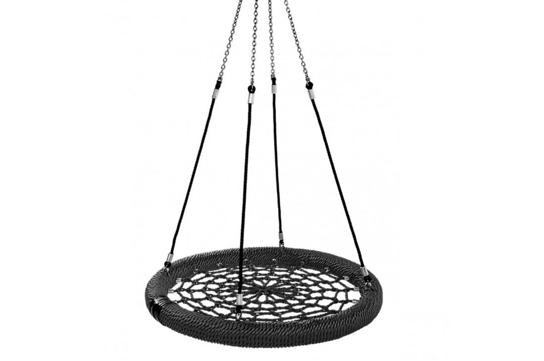 Nest Swing Birdie Commercial 1.2m BLACK/BLACK Single Fix Point