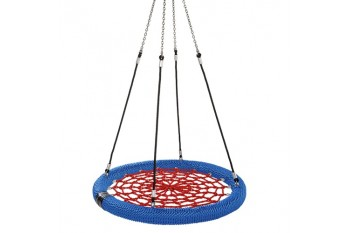 Nest Swing Birdie Commercial 1.2m RED/BLUE/BLACK Single Fix Point