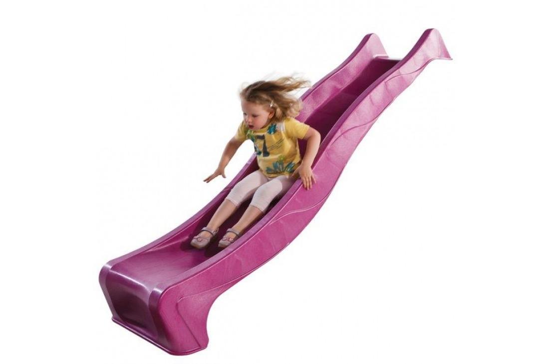 2.28m Slide 'reX' with 1.2m High Free Standing Ladder Kit - PINK