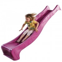 2.28m Slide 'reX' with 1.2m High Free Standing Ladder Kit - PINK