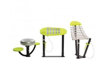 Commercial Playground Inclusive Equipment KBT Music Instrument Set - Natural Rhythm