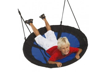 Nest Swing Swibee BLUE/BLACK With Adjustable PP Ropes (sensory swing)