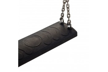 Rubber swing seat - 'Longi' - black With Stainless Steel Chains KBT Swing Seat (Commercial- Aluminium Insert)