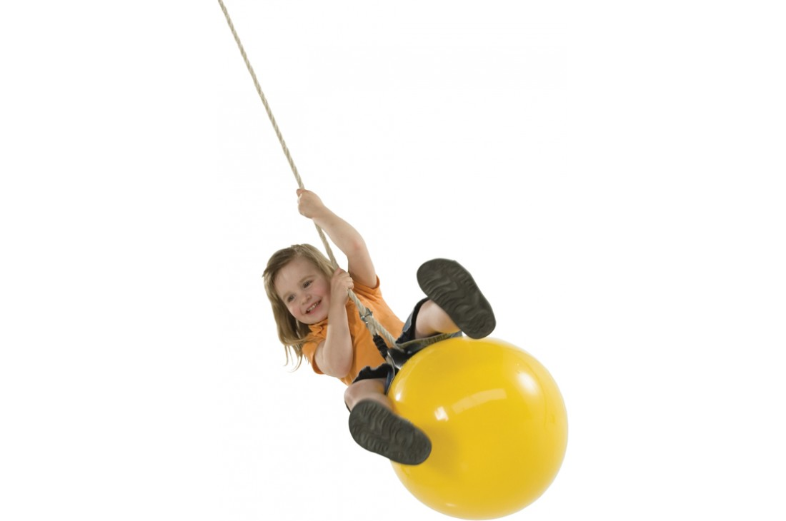 Buoy Ball 'DROP' Swing With Adjustable Rope - Yellow