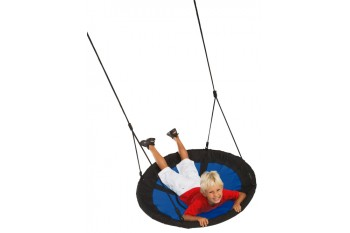 Nest Swing Swibee With Adjustable Ropes (sensory swing) - BLUE/BLACK