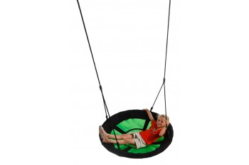 Nest Swing Swibee With Adjustable Ropes (sensory swing) - BLACK/GREEN