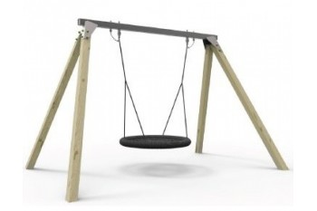 Commercial Grade Birds Nest Swing Frame. Galvanized Steel Top Bar With Timber Legs