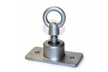 Heavy Duty Swivel Single Fixing Point SILVER