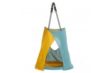 Tent Nest Swing 'WEOH' (sensory swing) Aqua / Yellow