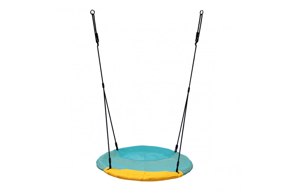 Nest Swing 'WINKOH' (sensory swing) Aqua / Yellow