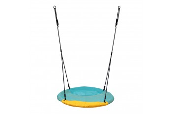 Nest Swing 'WINKOH'  (sensory swing) Aqua / Yellow