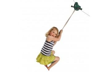 Zip Wire Parra GREEN With Monkey Swing GREEN Flying Fox