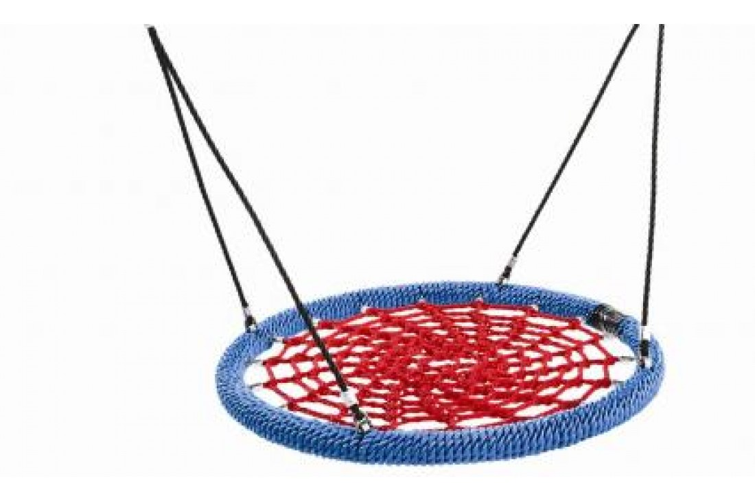 Nest Swing Birdie Commercial 1m RED/BLUE 2 Point Fixing