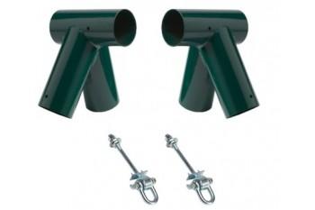 DIY Round Oblique Single Swing Set Green