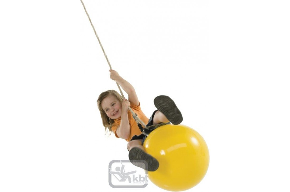 Buoy Ball DROP Swing Seat Yellow With PH Rope